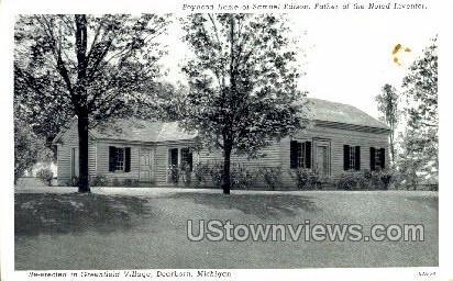 Boy Hood Home of Samuel Edison - Dearborn, Michigan MI Postcard