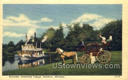 Suwanee, Greenfield Village - Dearborn, Michigan MI Postcard