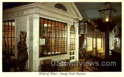 Street of Shops, Henry Ford Museum - Dearborn, Michigan MI Postcard