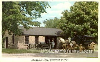 Blacksmith Shop, Greenfield Village - Dearborn, Michigan MI Postcard