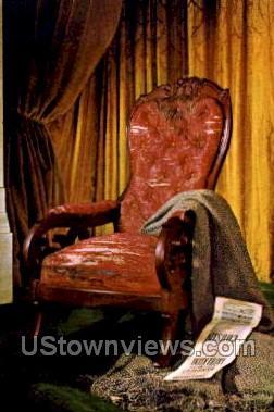 Lincoln Death Chair - Dearborn, Michigan MI Postcard