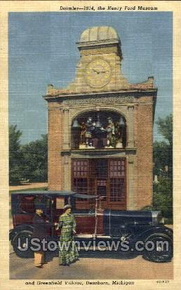 The Henry Ford Museum, Greenfield Village - Dearborn, Michigan MI Postcard