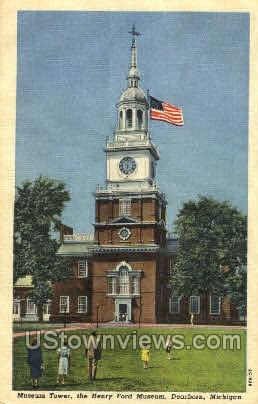 Museum Tower, Henry Ford Museum - Dearborn, Michigan MI Postcard
