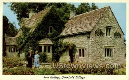 Rose Cottages - Dearborn, Michigan MI Postcard