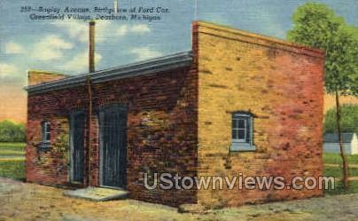 Bagley Ave, Green Village - Dearborn, Michigan MI Postcard