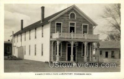 Edison's Menlo Park Lab - Dearborn, Michigan MI Postcard