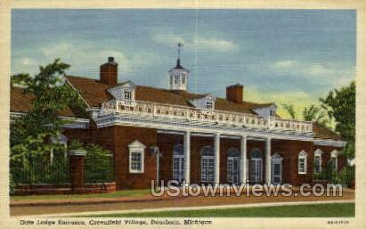 Gate Lodge Entrance - Dearborn, Michigan MI Postcard