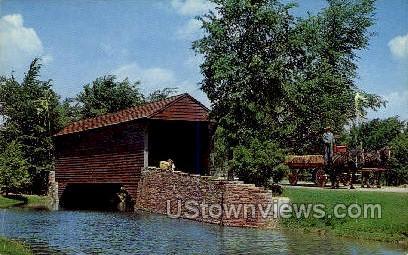 Covered Bridge - Dearborn, Michigan MI Postcard