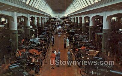 Antique Automobiles - Dearborn, Michigan MI Postcard