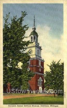 Edison Institute & Museum - Dearborn, Michigan MI Postcard