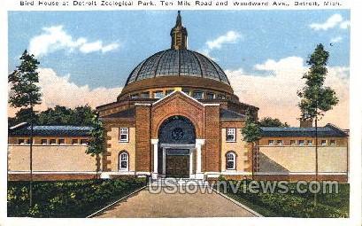 Bird House at Detroit Zoological Park - Michigan MI Postcard