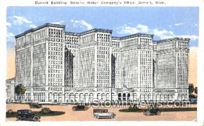 General Motor Company's Office - Detroit, Michigan MI Postcard