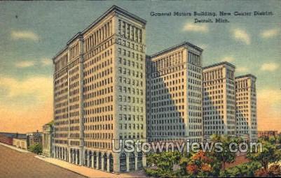 General Motors Building, New Center District - Detroit, Michigan MI Postcard