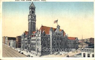 Main Post Office - Detroit, Michigan MI Postcard