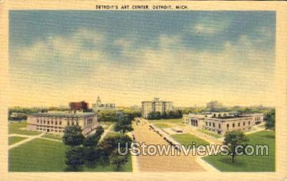 Detroit's Art Center - Michigan MI Postcard
