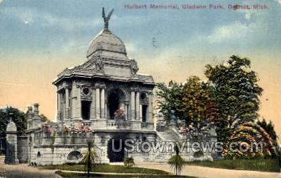 Hulbert Memorial, Gladwin Park - Detroit, Michigan MI Postcard