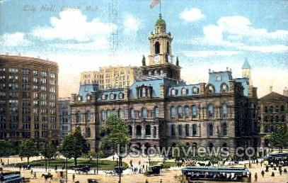 City Hall - Detroit, Michigan MI Postcard