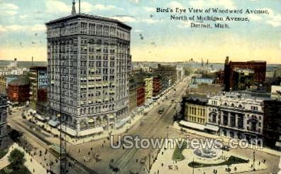 Woodward Avenue - Detroit, Michigan MI Postcard