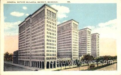 General Motors Building - Detroit, Michigan MI Postcard