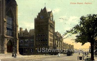 Union Depot - Detroit, Michigan MI Postcard