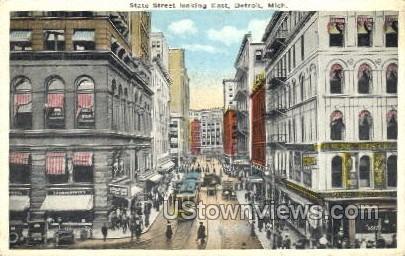 State Street - Detroit, Michigan MI Postcard
