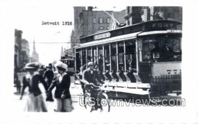 Reproduction - Detroit, 1916 - Michigan MI Postcard