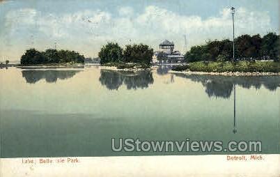 Lake, Belle Isle Park - Detroit, Michigan MI Postcard