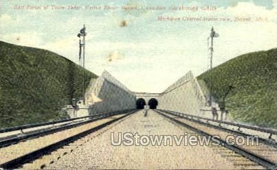 East Portal of Twin Tubes - Detroit, Michigan MI Postcard