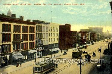 Jefferson Ave. - Detroit, Michigan MI Postcard