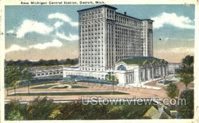 New Michigan Central Station - Detroit Postcard