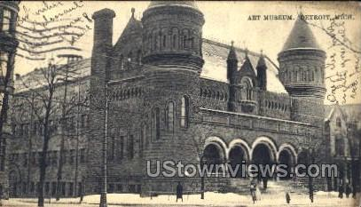 Art Museum - Detroit, Michigan MI Postcard