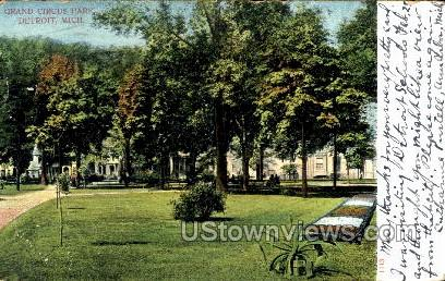 Grand Circus Park - Detroit, Michigan MI Postcard