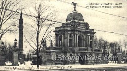 Hulbert Memorial Gate - Detroit, Michigan MI Postcard