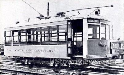 Reproduction, Department of Street Railways - Detroit, Michigan MI Postcard