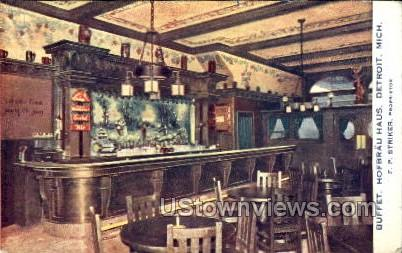 Buffet, Hofbrau Haus - Detroit, Michigan MI Postcard