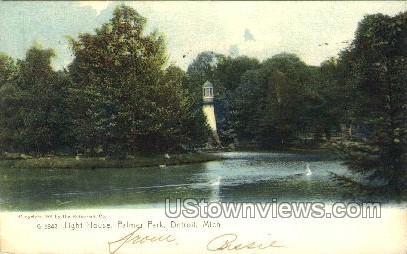 Lighthouse, Palmer Park - Detroit, Michigan MI Postcard