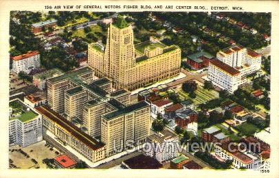 General Motors Fisher Bldg.  - Detroit, Michigan MI Postcard