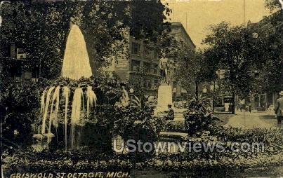 Griswold Street - Detroit, Michigan MI Postcard