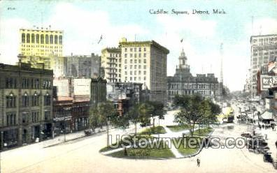 Cadillac Square - Detroit, Michigan MI Postcard