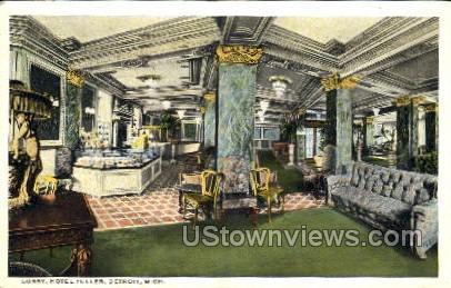 Lobby, Hotel Tuller - Detroit, Michigan MI Postcard