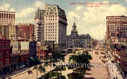 Cadillac Square, City Hall - Detroit, Michigan MI Postcard