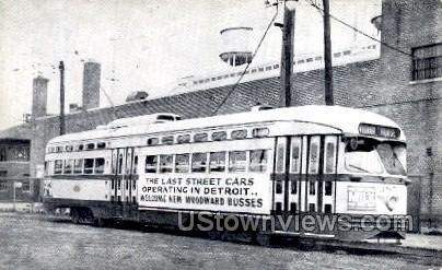 Reproduction, Woodward Busses - Detroit, Michigan MI Postcard