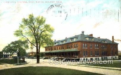 Company's Quarter, Fort Wayne - Detroit, Michigan MI Postcard