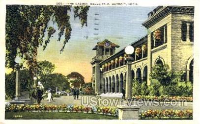 The Casino, Belle Isle - Detroit, Michigan MI Postcard