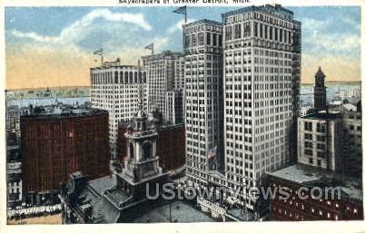 Skyscrapers of Greater  - Detroit, Michigan MI Postcard
