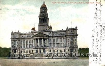 New Wayne County Building - Detroit, Michigan MI Postcard