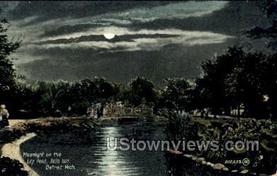 Lily Pond, Belle Isle - Detroit, Michigan MI Postcard