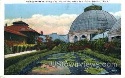 Horticultural Building and Aquarium - Detroit, Michigan MI Postcard