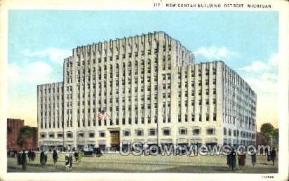 New Center Building - Detroit, Michigan MI Postcard