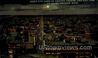 Gratiot Avenue and East Side - Detroit, Michigan MI Postcard